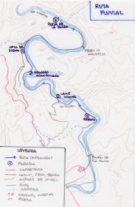 mapa ruta fluvial