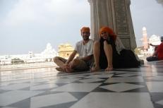 En el templo dorado India