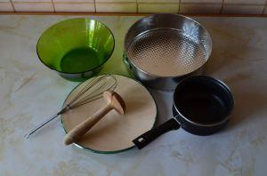tarta queso fría utensilios