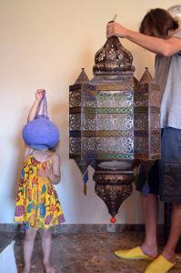 Lámpara marroquí casa rural melones
