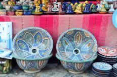 Lavabos de cerámica de casa rural melones